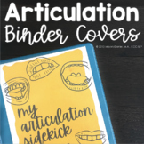 Articulation Therapy Stimuli Binder Covers