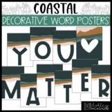 Coastal Classroom Decor   Decorative Word Posters - Editable!