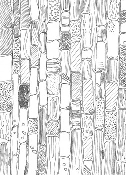 Coastal Defences: Brickwork Patterns: The Breakwater: Colouring Sheet