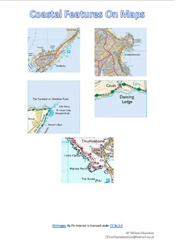 Coastal Features On A Map