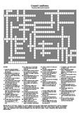 Coastal Landforms - A Testing Vocabulary Crossword