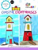 Coastal Lighthouses (Folk Art) Art Lesson Plan