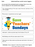 Coastal erosion (sequencing) Lesson plan and Worksheets