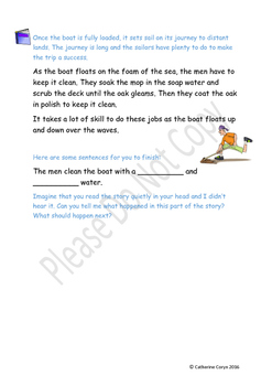 """Coasting on the Sea - Story for Emergent Readers - Developing """"oa"""" digraph"""