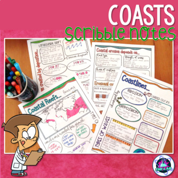 Coastlines Scribble Notes