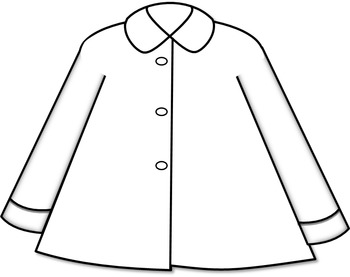 Coat Clip Art // Winter/Rain Coat in 13 Different Colors!!