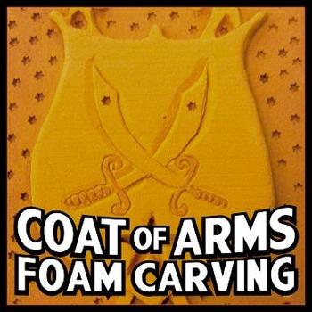 Coat of Arms Balsa Foam Carving - Sculpture Art Project