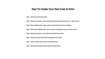 Coat of Arms Lesson