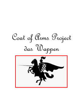 Coat of Arms Project * For German Class