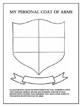 Coat of Arms for Early Years Learners
