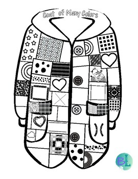 Joseph's coat of many colors craft/coloring page. Toddlers glued ... | 350x270