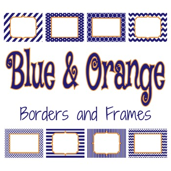 Blue and Orange Borders and Frames