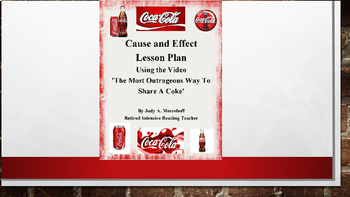 Coca Cola CAUSE AND EFFECT Activity Using a Video Coke Ad and Technology FUN