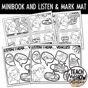 Cochlear Implant Mini-Book, Coloring Book, Transportation Theme