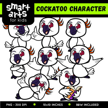 Cockatoo Digital Clipart