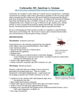 Cockroach 101 reading & research