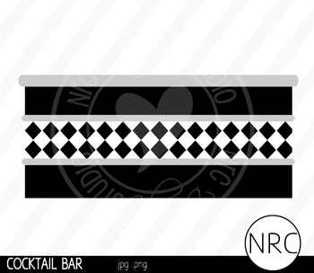 Cocktail Bar Clip Art - Commercial Use Clipart