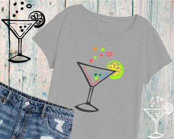 Cocktail Drink SVG summer Cutting Files Summertime 898S