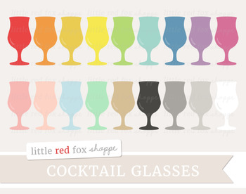 Cocktail Glass Clipart; Wine, Drink, Bar