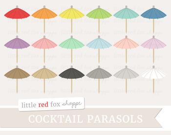 Cocktail Parasol Clipart; Drink, Umbrella