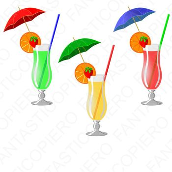 Cocktail green yellow red clipart JPG files and PNG files.