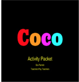 Coco Movie Activity Packet. Vocab, Movie questions, songs