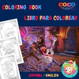 Coco, Bilingual Coloring Book