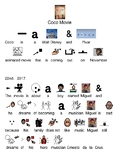 Coco Disney Pixar Movie - Picture supported text adapted lesson visuals