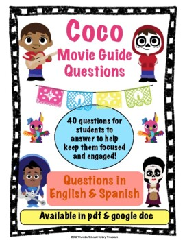 Coco Movie Guide Questions (English & Spanish)