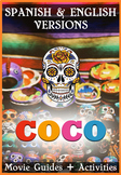 2 Pack Bundle - Coco Movie Guide in English and Spanish + Activities