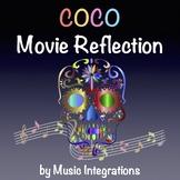Coco Movie Reflection Worksheet- Day of the Dead- Dia De Los Muertos