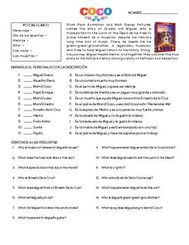 Disney/Pixar Coco - Movie Guide (English/Spanish) - Dia de los Muertos