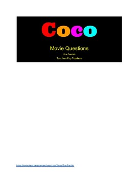 Coco SPANISH movie questions