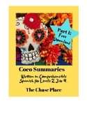 Coco Summary, Part 1, written in Comprehensible Spanish fo