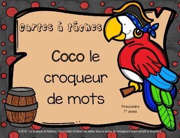 Coco le croqueur de mots (cartes à tâches)