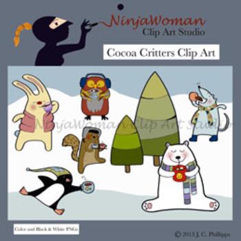 Cocoa Critters Clip Art