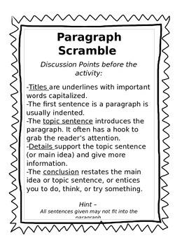 Cocoa Paragraph Scramble - Sequencing Parts of a Paragraph