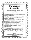 Cocoa Paragraph Scramble - Sequencing Parts of a Paragraph