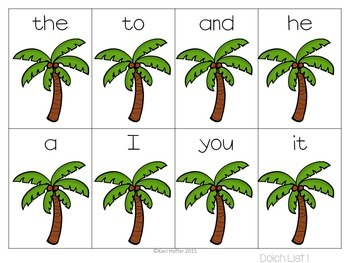 Coconut Tree Sight Word