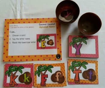Coconut Coconut Alphabet Match Kindergarten Preschool READY TO PLAY