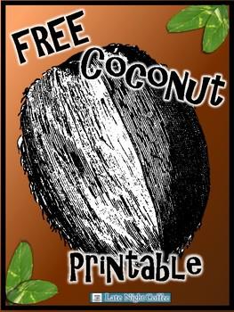 Coconut Image Printable-FREE!