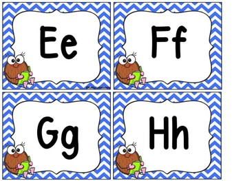 Coconut Pal Word Wall Letters