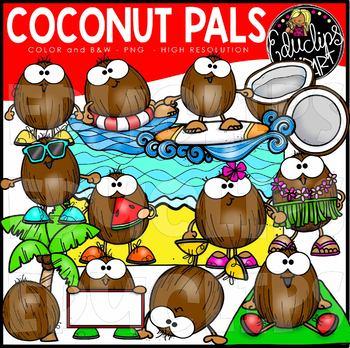 Coconut Pals Clip Art Set {Educlips Clipart}