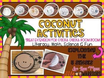 Coconut Science, Math and Literacy Activities Book Craftivity