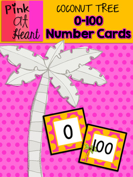 Coconut Tree: 0-100 Number Cards