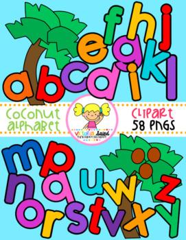 Coconut Tree Alphabet Clipart