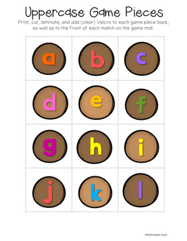 A-Z Coconut Tree Alphabet Sort & Match File Folder Game {Pre-K, K}
