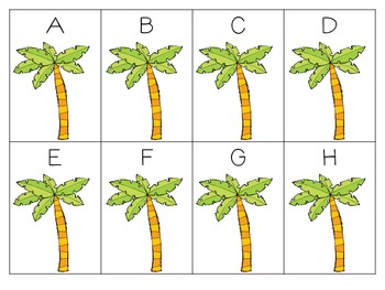 Coconut Tree Boom! {A Differentiated Beginning of Year Letter Game}