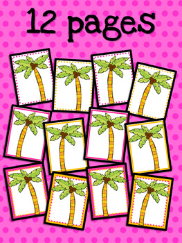 Coconut Tree: Coconut Tree Printable Pages