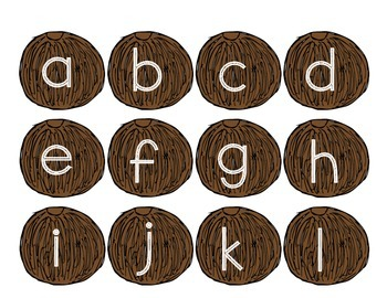 Coconut Tree Lowercase Letter Matching